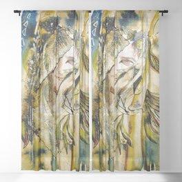 Golden Collar Sheer Curtain
