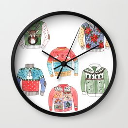Ugly Sweaters Wall Clock
