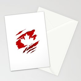 Canadian Red Flag Pride Stationery Cards