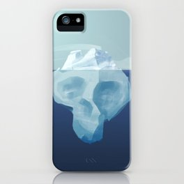 Dying iceberg, the terrible effects of climate change iPhone Case