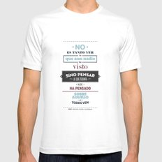 No es Tanto ver MEDIUM White Mens Fitted Tee