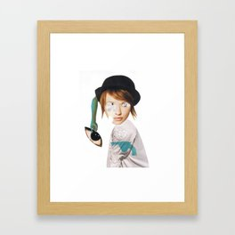 stink eye one Framed Art Print