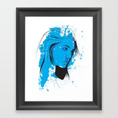 Black, blue & white II Framed Art Print