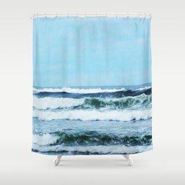 Oregon Coast Waves Shower Curtain