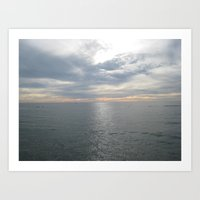 Ocean On A New Year's Day Art Print