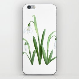 Snowdrops Floral Painting iPhone Skin
