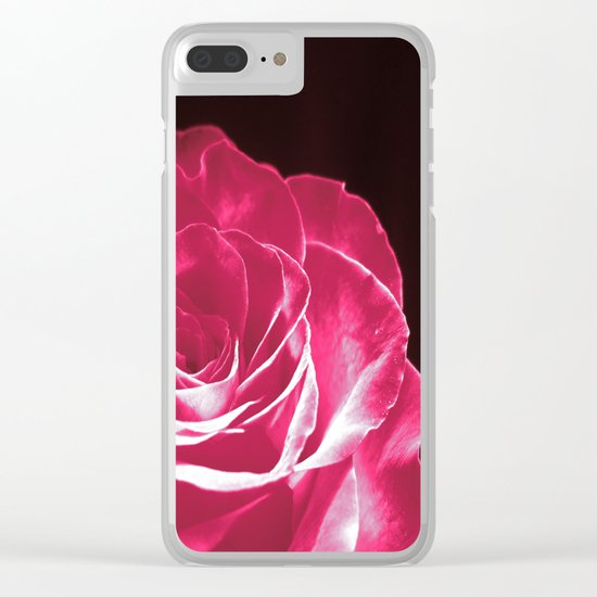 Colours Rose Clear iPhone Case