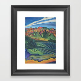 Topa Winery Framed Art Print