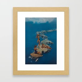 Channel Island living Framed Art Print