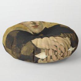 George Hendrik Breitner - Sara de Swart (1861-1951) Floor Pillow
