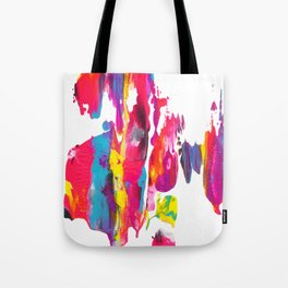 Abstract Paint Smear Party Tote Bag