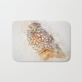Bird animal owl art abstract Bath Mat
