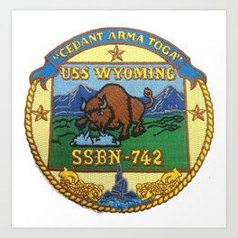 USS WYOMING (SSBN-742) PATCH Art Print