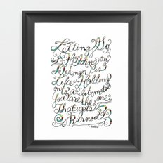 The Art of Letting Go Framed Art Print