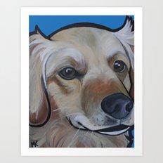 Josie (blue) Art Print