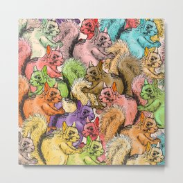 Squirrels Parade Metal Print