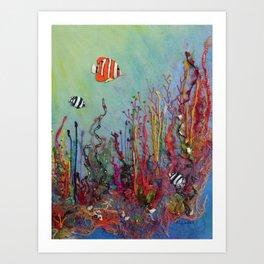 Ocean Reef Art Print