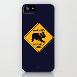 Warning! Insanely Cute - Funny Koala Bear Road Sign iPhone Case