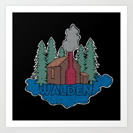 Walden - Henry David Thoreau (Coloured textured version) #society6 #decor #buyart Art Print