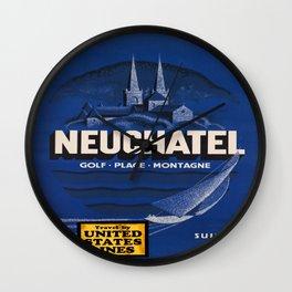 Vintage poster - Neuchatel Wall Clock
