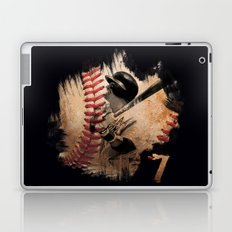 Craig Biggio Illustration in Black Laptop & iPad Skin