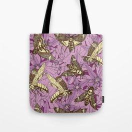 Death's-head hawkmoth purple Tote Bag