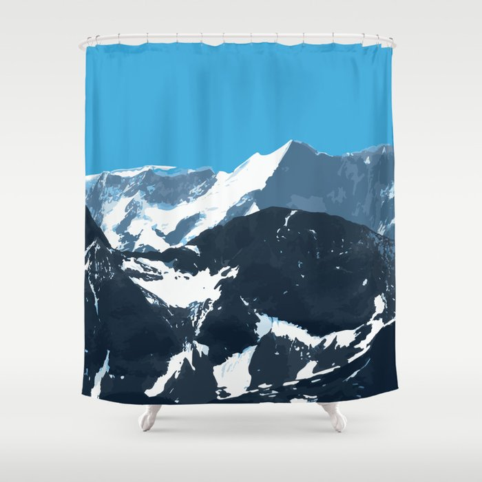 swiss mountains Shower Curtain