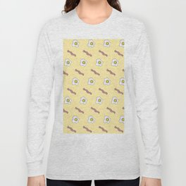 Eggs and Bacon Breakfast Foodie Funny Pattern Long Sleeve T-shirt