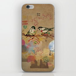 Two Little Birds iPhone Skin
