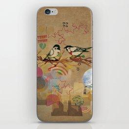 Two Little Birds iPhone Skin