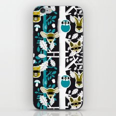 Animals play hide&seek in forest (color2) iPhone & iPod Skin