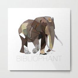 Bibliophant - enormous lover of books Metal Print