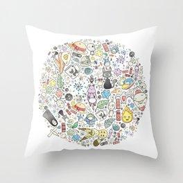 Ghibli Love Circle Throw Pillow