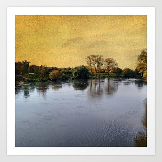 Danube in Straubing Art Print
