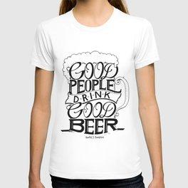 Good Beer Handlettered T-shirt