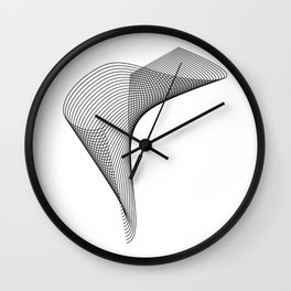 """Linear Collection"" - Minimal Letter T Print Wall Clock"