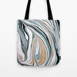 Teal Scape Tote Bag