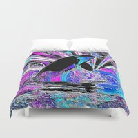 orca Duvet Covers featuring Orca by JT Digital Art