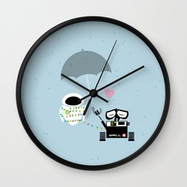 true love.. walle and eve  Wall Clock