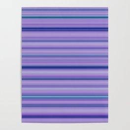 Modern Purple Pantone Aqua Stripe Pattern Poster