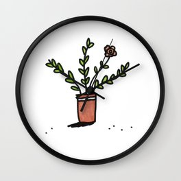 Pretty Plant 1 Wall Clock