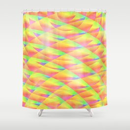 Bright Interference Shower Curtain