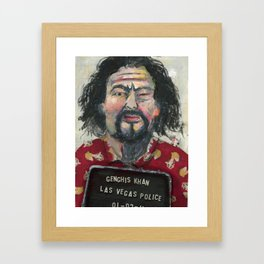 Genghis Khan's Vegas Arrest Framed Art Print