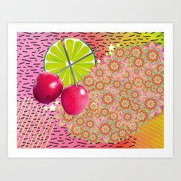 Candied Fruities, Flowered Cooties Art Print