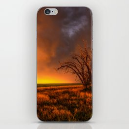 Fascinations - Warm Light and Rumbles of Thunder in Oklahoma iPhone Skin