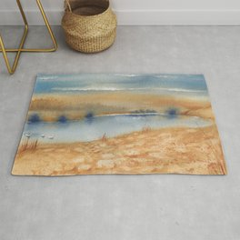 2 Colors - 3 Swans Rug