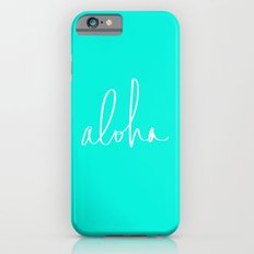 Aloha Tropical Turquoise Slim Case iPhone 6