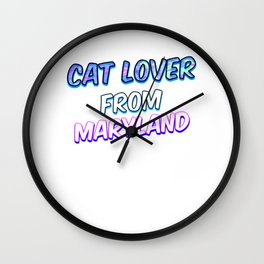 Dog Lover From Maryland Wall Clock
