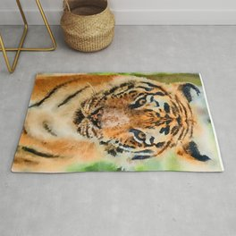 Tiger watercolor painting #1 Rug