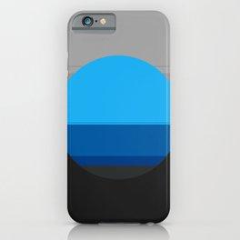 Blue Gray Black Mod Art iPhone Case